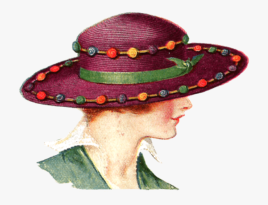 Ladies Fancy Hats Clipart.