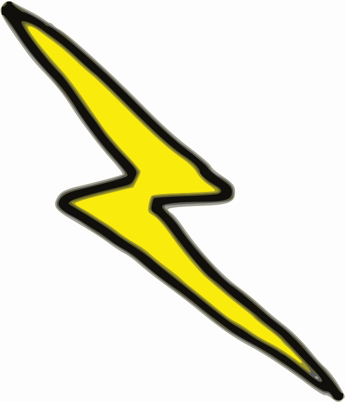 Free Clipart: Cheap Lightning Bolt.