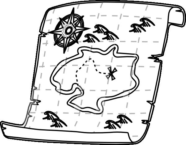 572 Treasure Map free clipart.