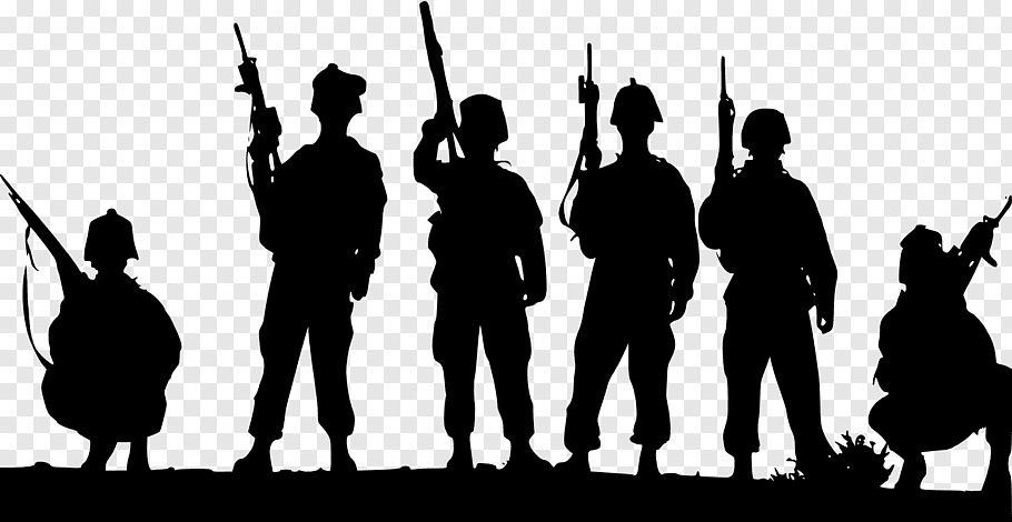 Children Silhouette, Soldier, Military, Army, Battlefield.
