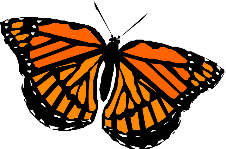 Clip art monarch butterfly.