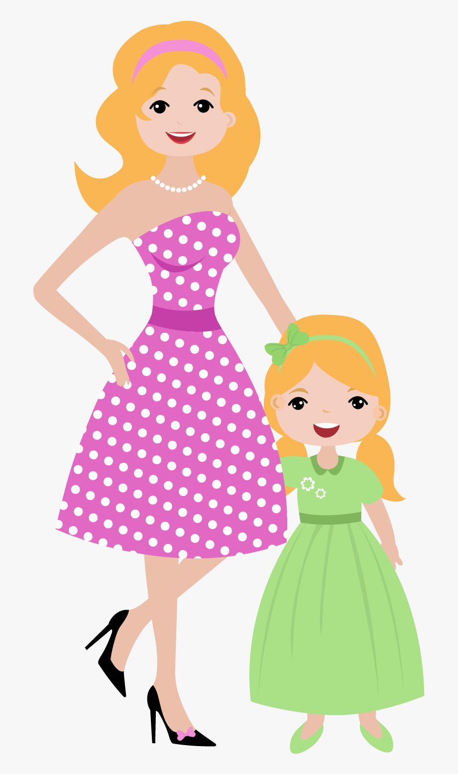 Mother And Daughter Clipart , Transparent Cartoon, Free.