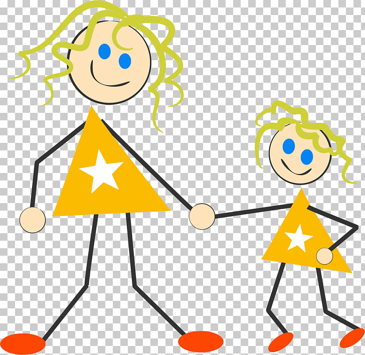 Mother Daughter Stick figure , Mother And Daughter PNG.