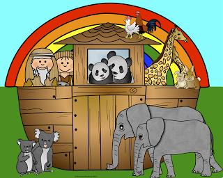Free Noah\'s Ark Clip Art and Lesson Links (Faith Filled.