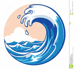 Free Clipart Of Ocean Wave.
