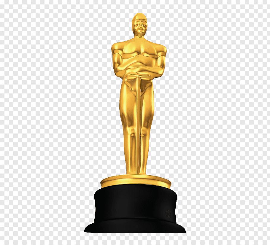 Golden trophy, Academy Awards Trophy, Oscars free png.
