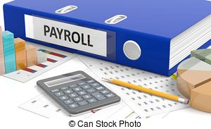 Computer Payroll Clipart.