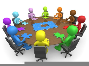 Roundtable Meeting Clipart.