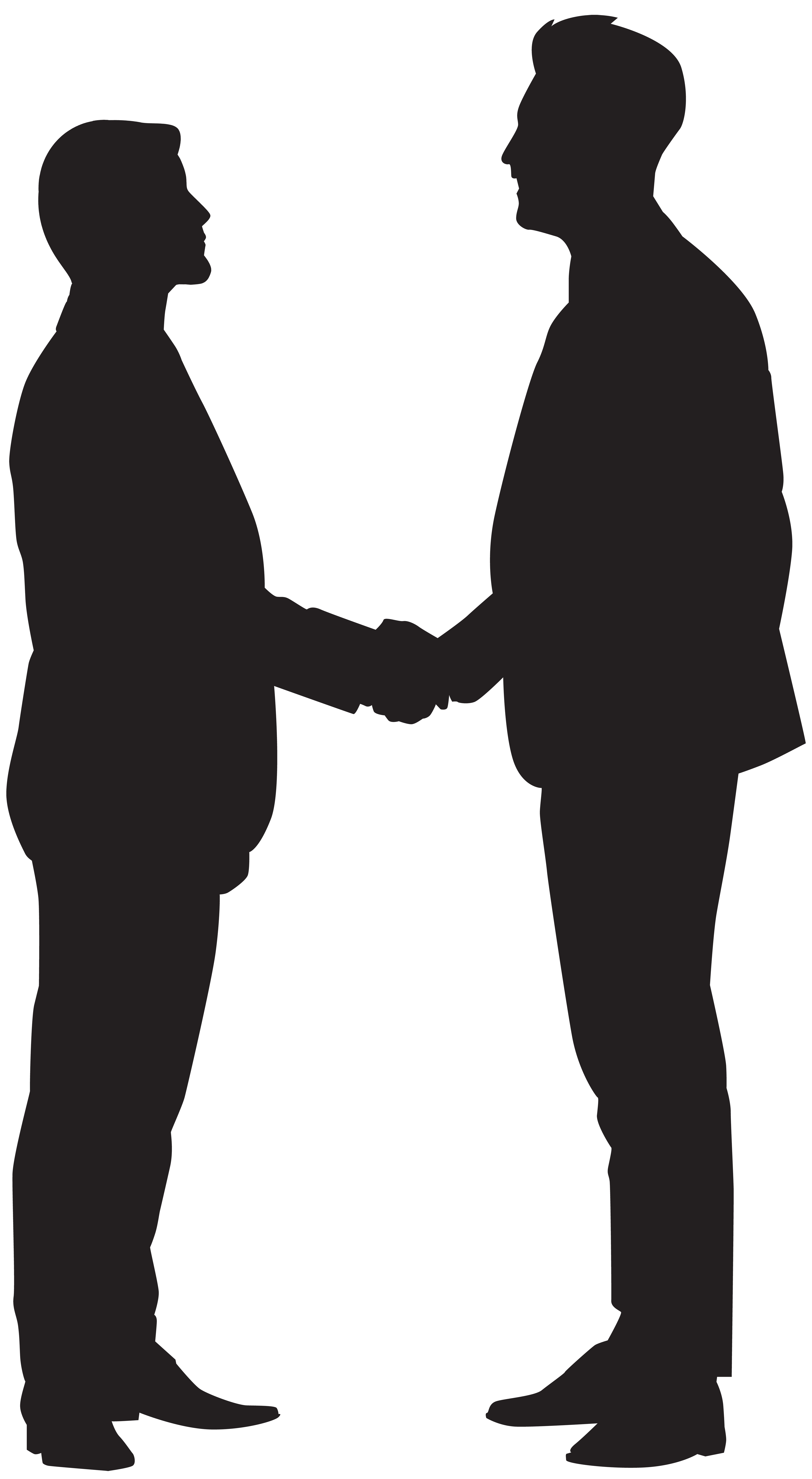 931 Shaking Hands free clipart.