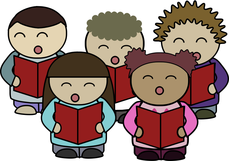 Free Clipart Of People Singing In Churh.