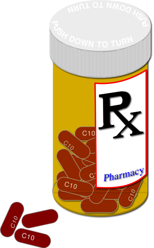 Free Clipart: Prescription Bottle and Pills.