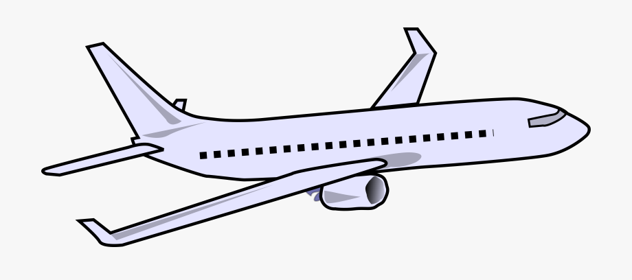 Airplane Clip Passenger Plane.