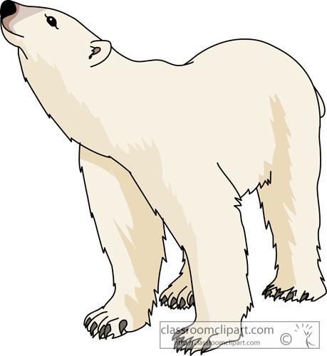2850 Polar Bear free clipart.
