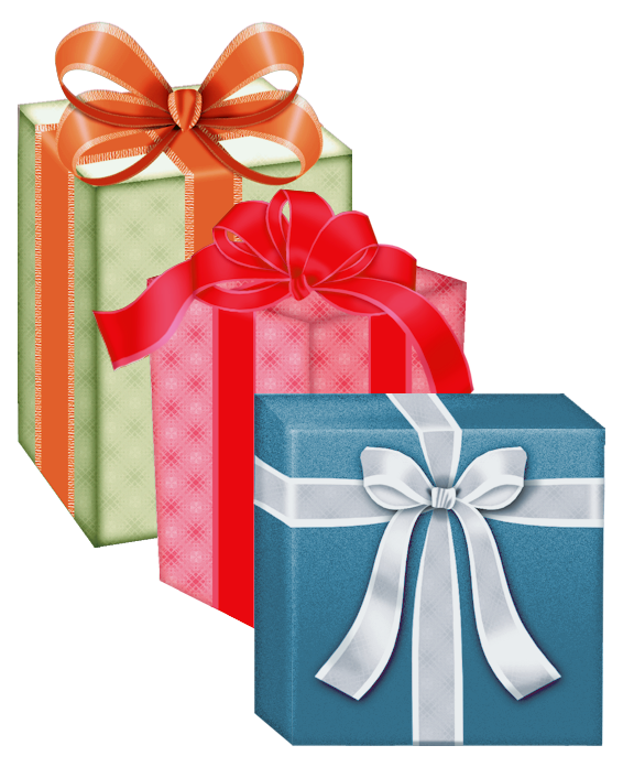Presents Boxes PNG Clipart.