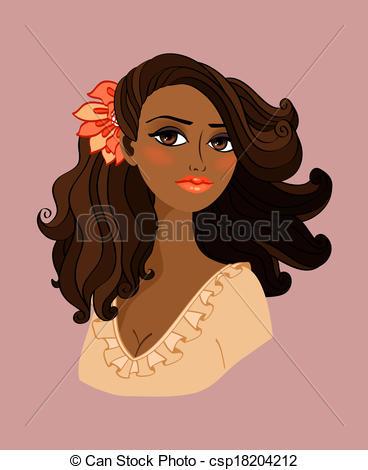 Free Clipart Of Pretty Black Woman.