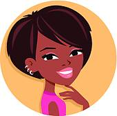 Clipart of Pretty Black Woman Illustration k17722252.