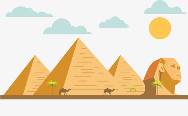 Cartoon flat egypt pyramid of khufu PNG clipart.