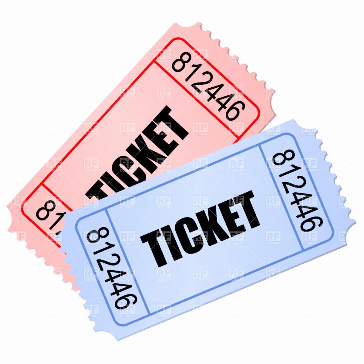 234 Raffle Ticket free clipart.