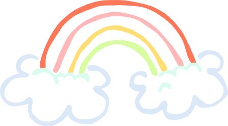 Free Rainbow Clipart.