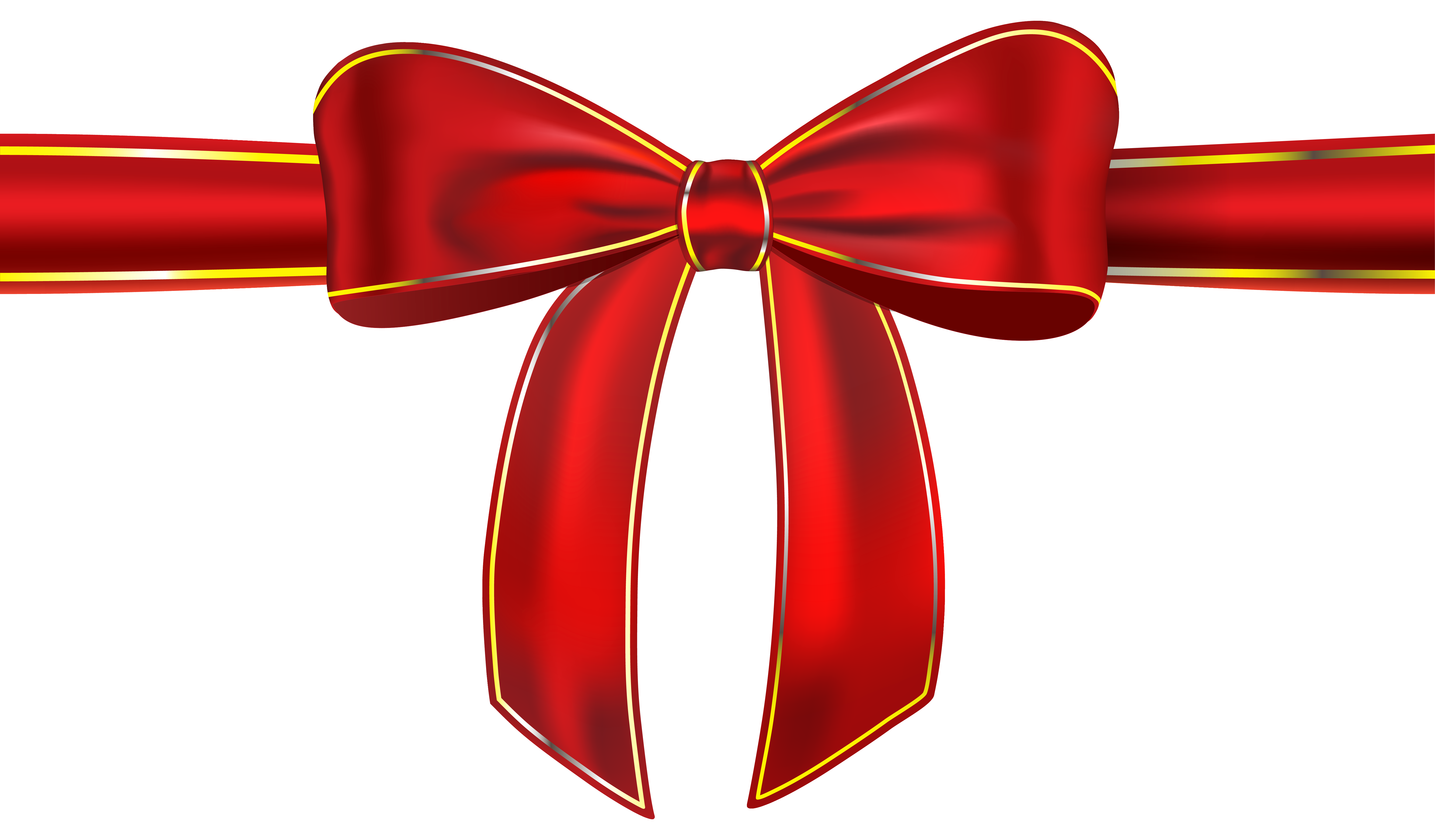 Red Ribbon with Bow PNG Clipart Picture.