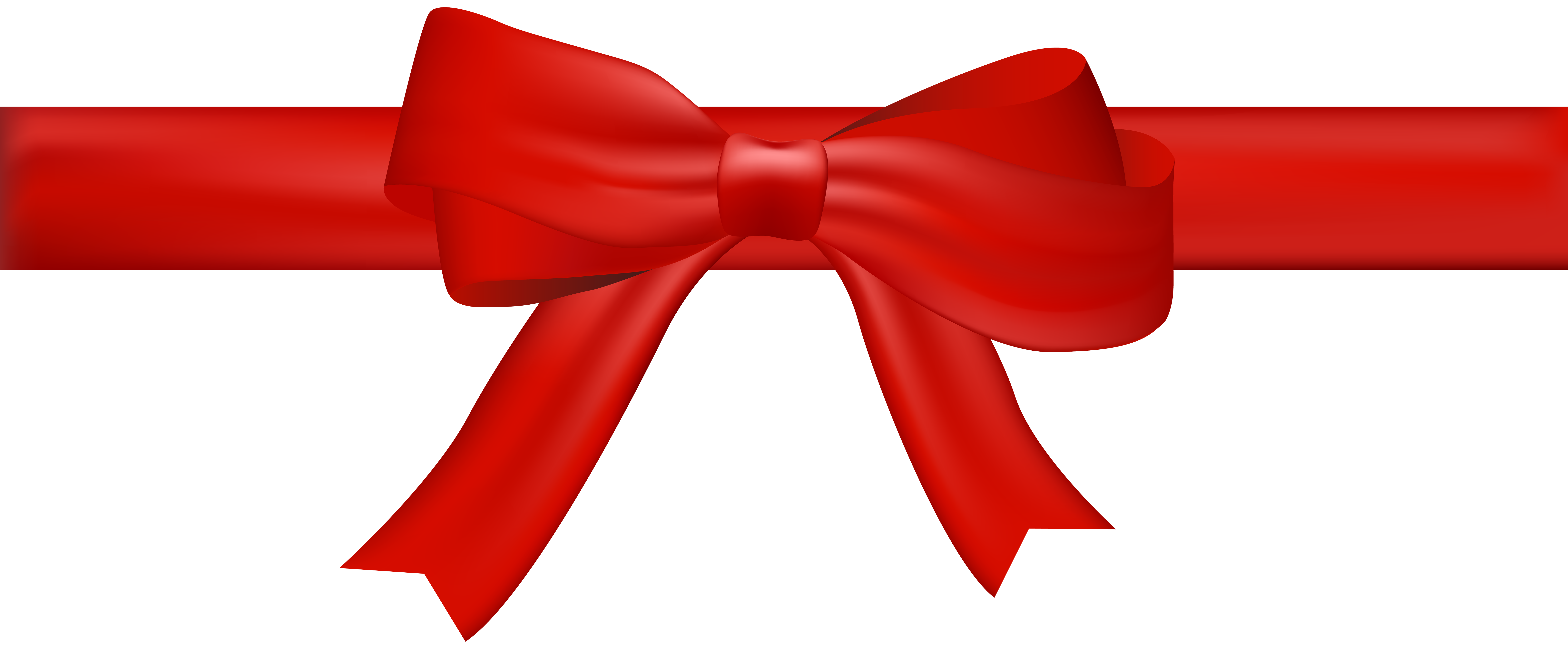 Bow Red Transparent Clip Art Image.