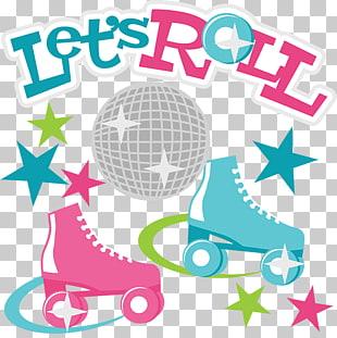 Roller skates PNG clipart.