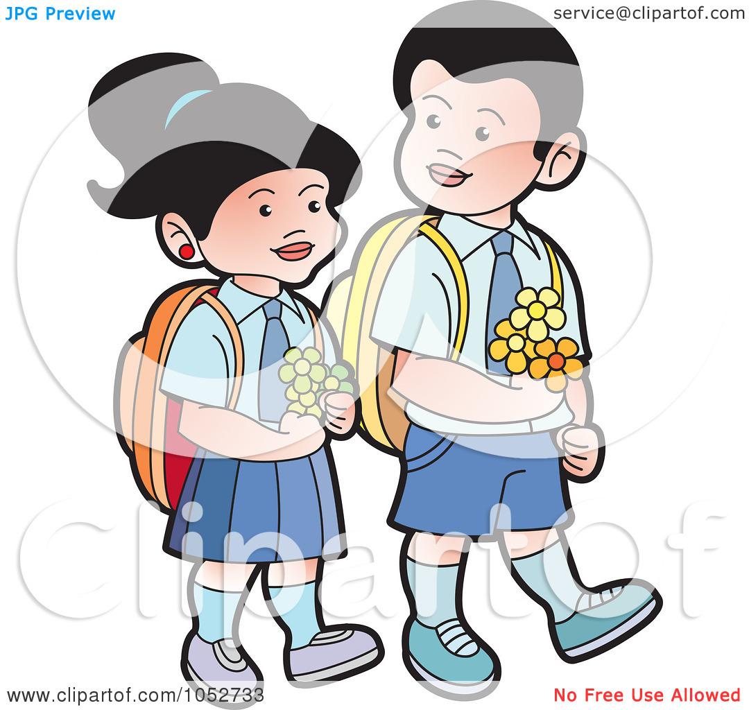 Free Clip Art School Kids.