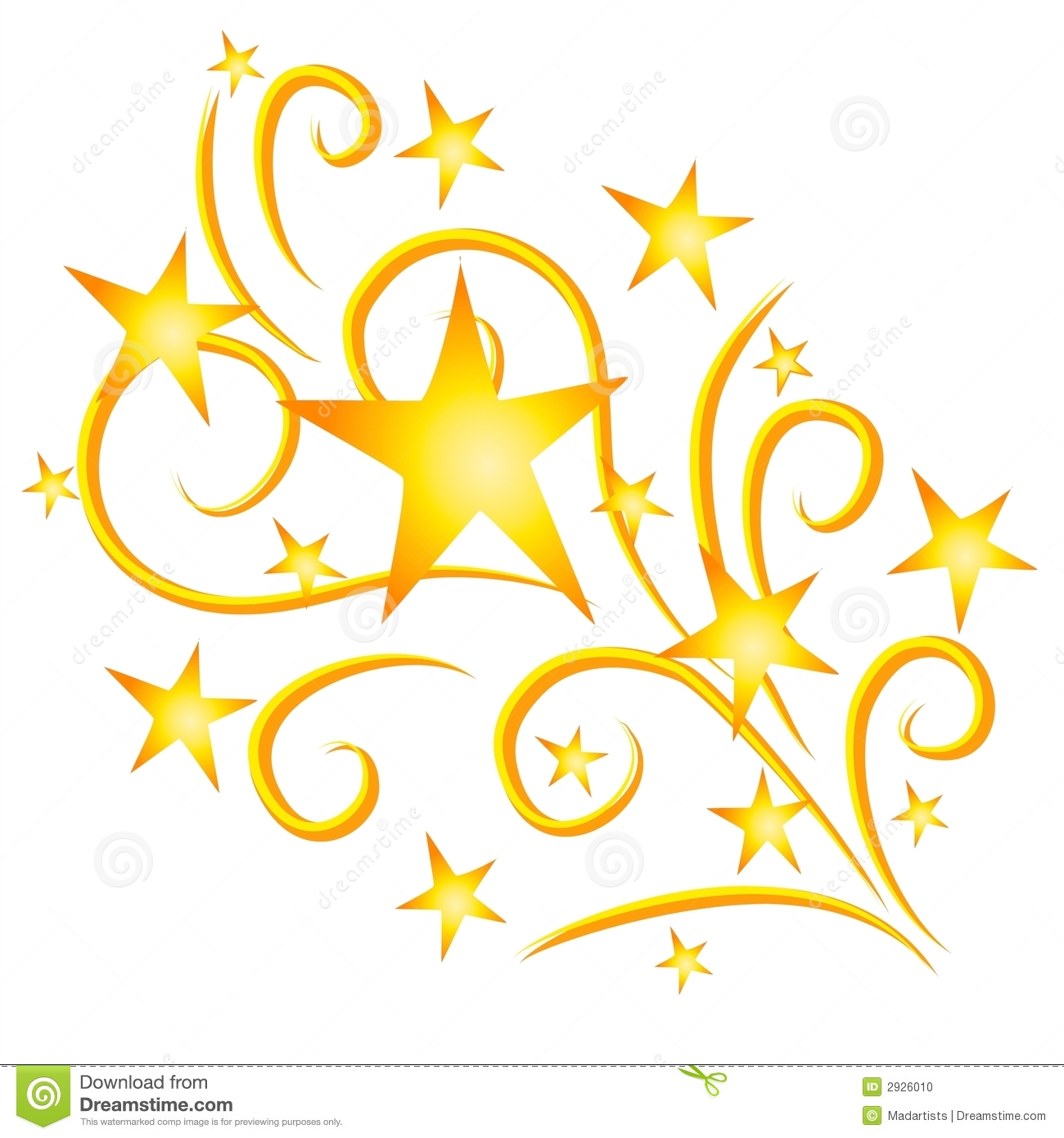 301 Shooting Stars free clipart.