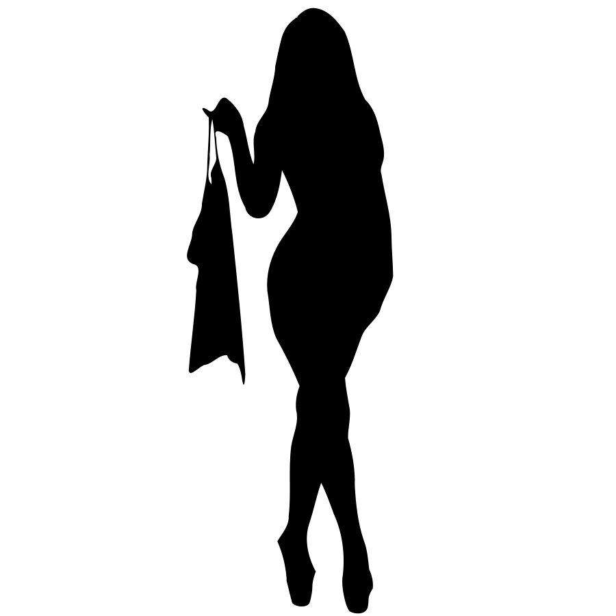Woman Silhouette 14 SVG Vector file, vector clip art svg file.