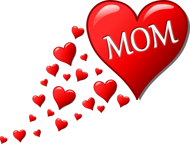 Free Clipart: Mother\'s day heart with small hearts track.