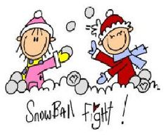 Snowball Fight Clipart.
