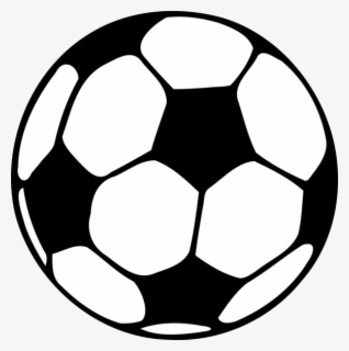 Free Soccer Ball Black And White Clip Art with No Background.