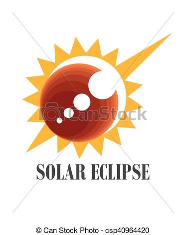 Solar eclipse icon.
