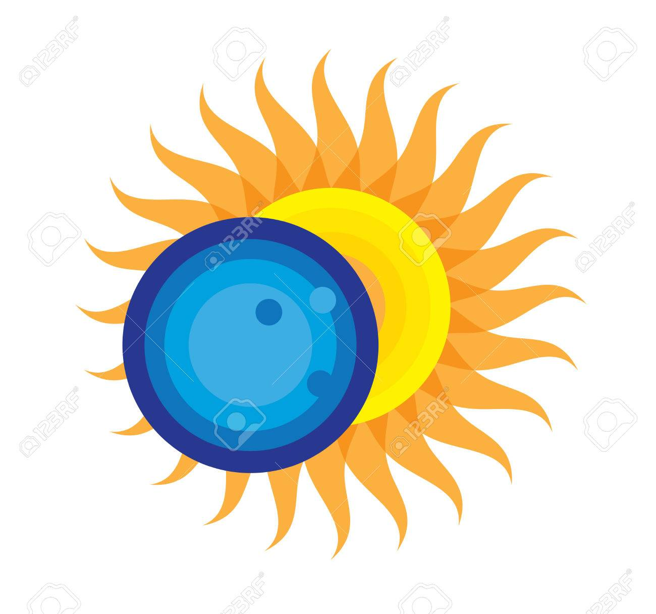 Total Solar Eclipse Icon August 21st, 2017.