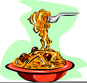 Spaghetti And Meatballs Clipart.