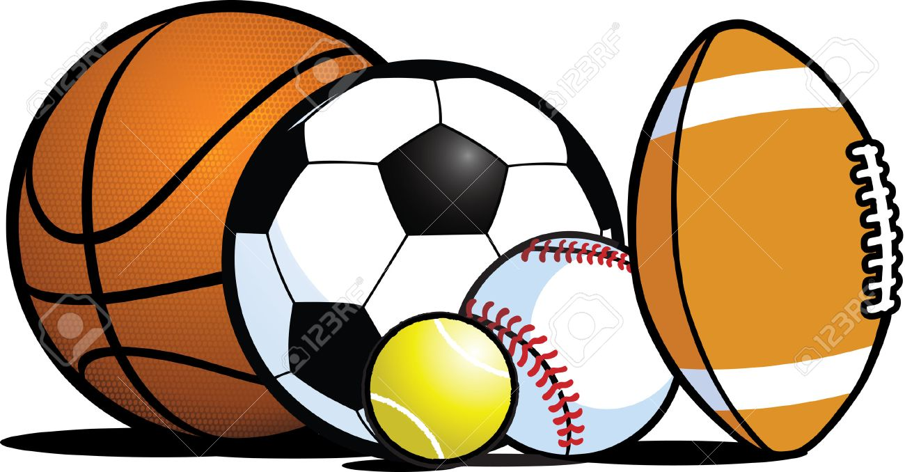 Clipart Of Sports Equipment.