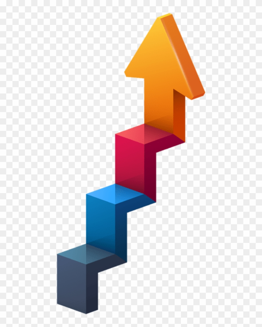 Free Png Download Stairs Arrow Transparent Clipart.