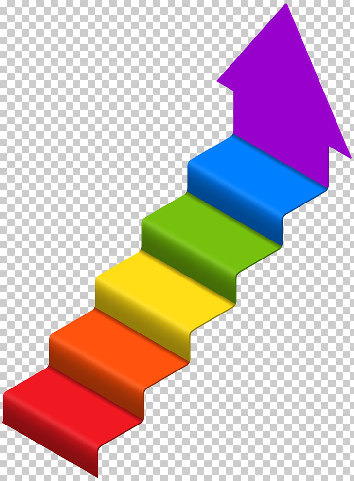 Stairs , Arrow Stairs , multicolored stair.
