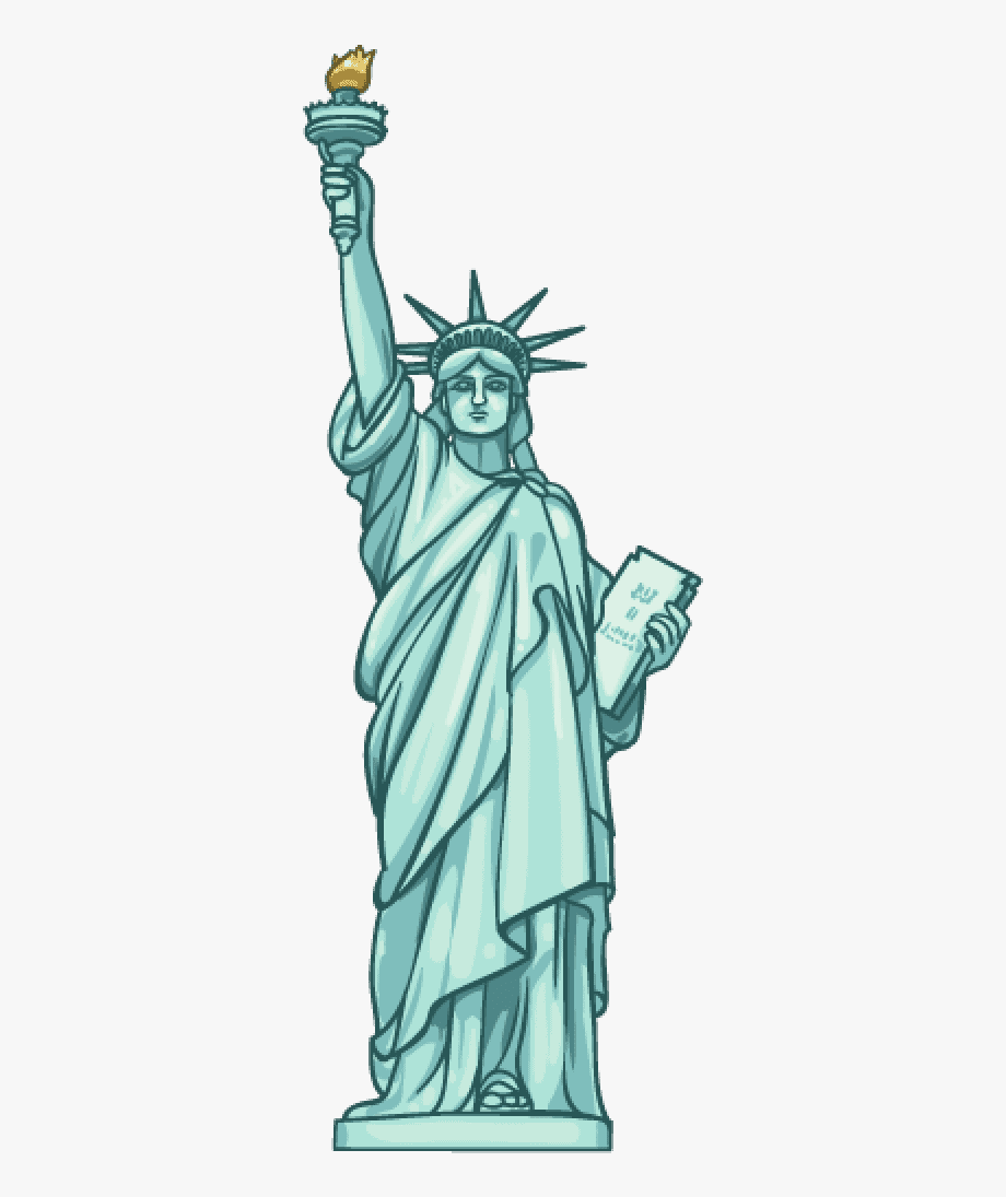 Statue Of Liberty Clipart , Transparent Cartoon, Free.