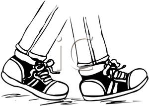 Tennis Shoes Clipart Black And White.