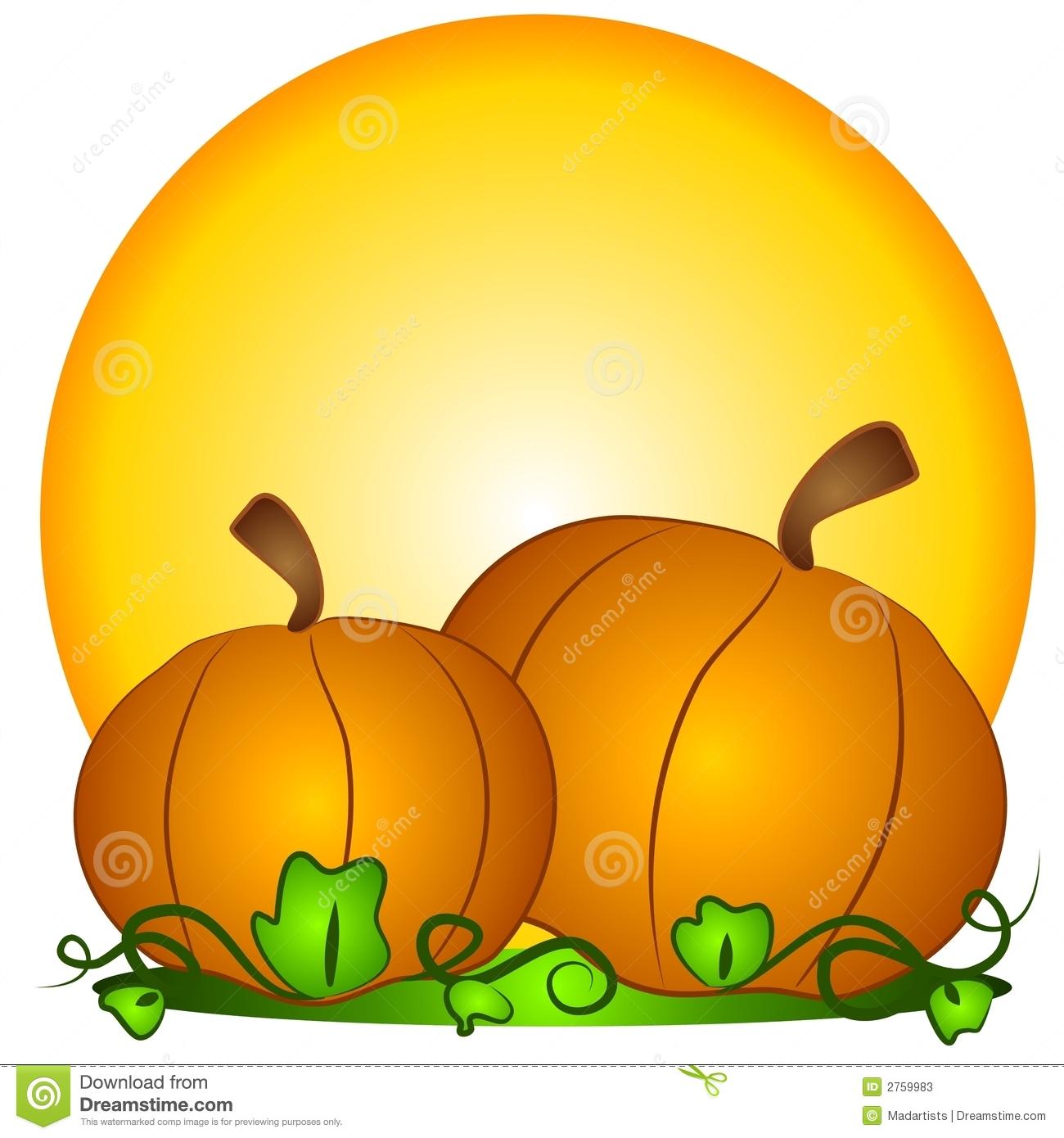 Pumpkin Background Free Clipart.