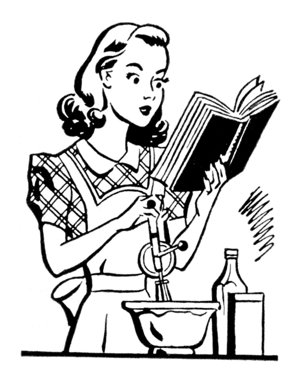 Baking Mom / Wife: Tons of retro clip art via The Graphics Fairy.