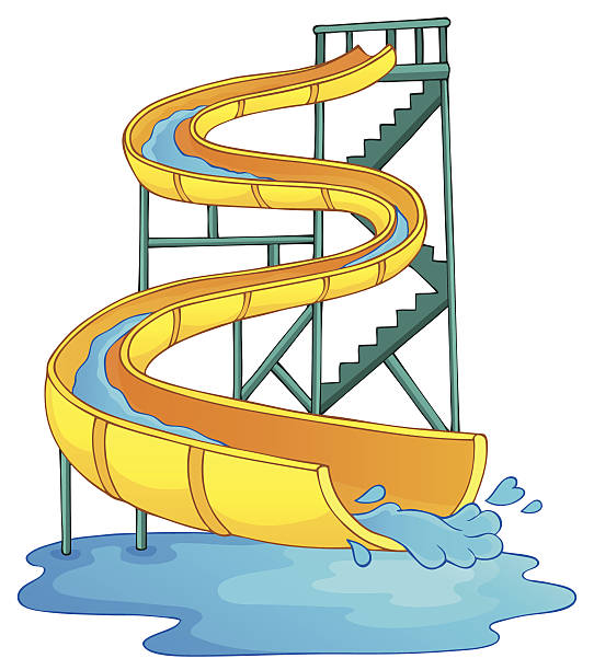 Best Water Slide Illustrations, Royalty.