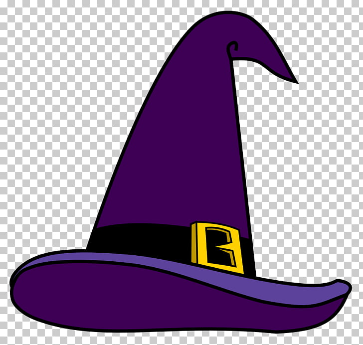 Witch hat Magician , Purple Witch Hat , purple witch hat PNG.