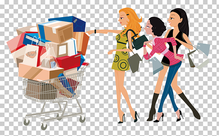 Shopping Woman Free content , Shopping women PNG clipart.