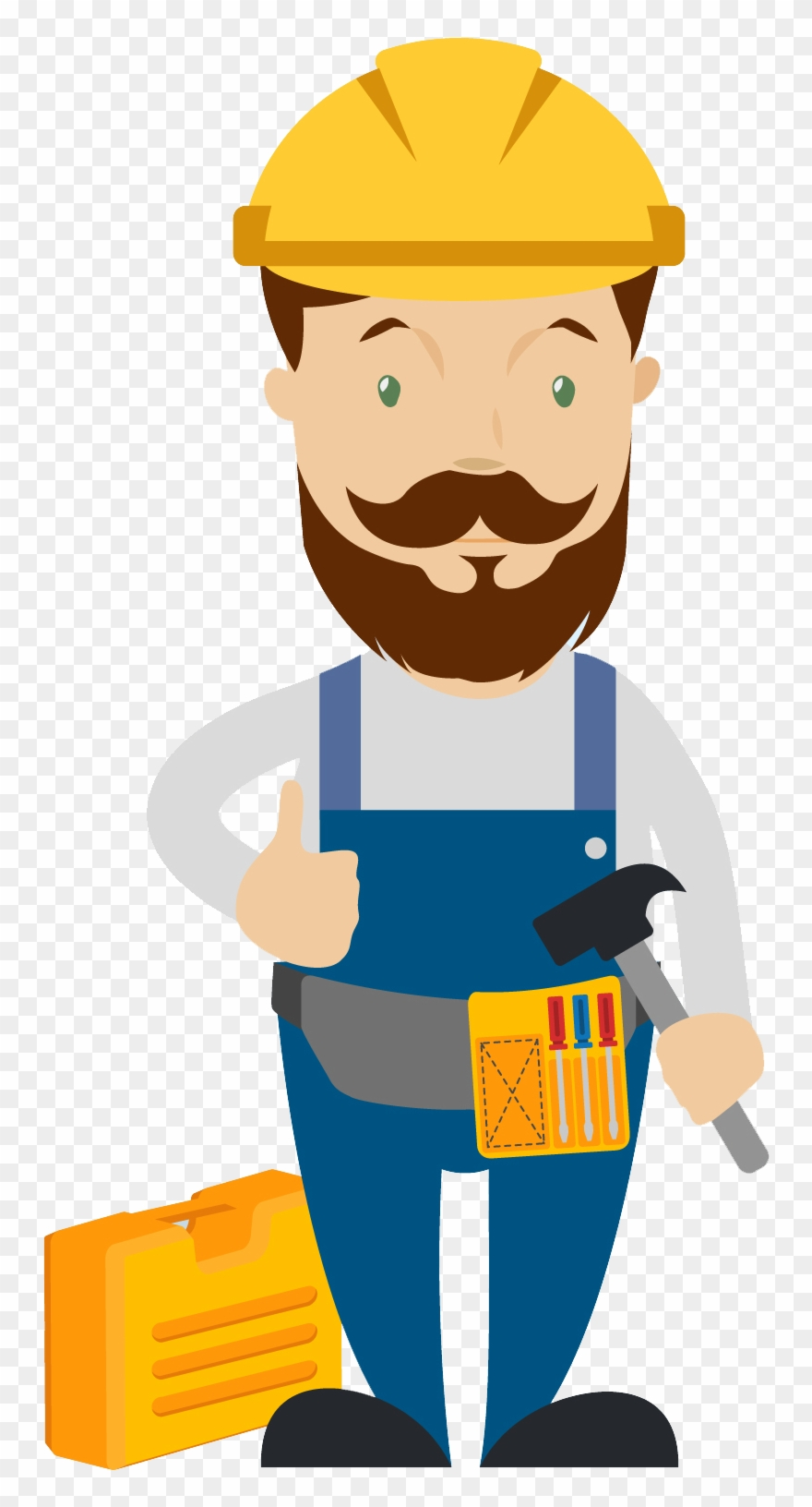 Graphic Free Stock Carpenter Clipart Skilled Worker.
