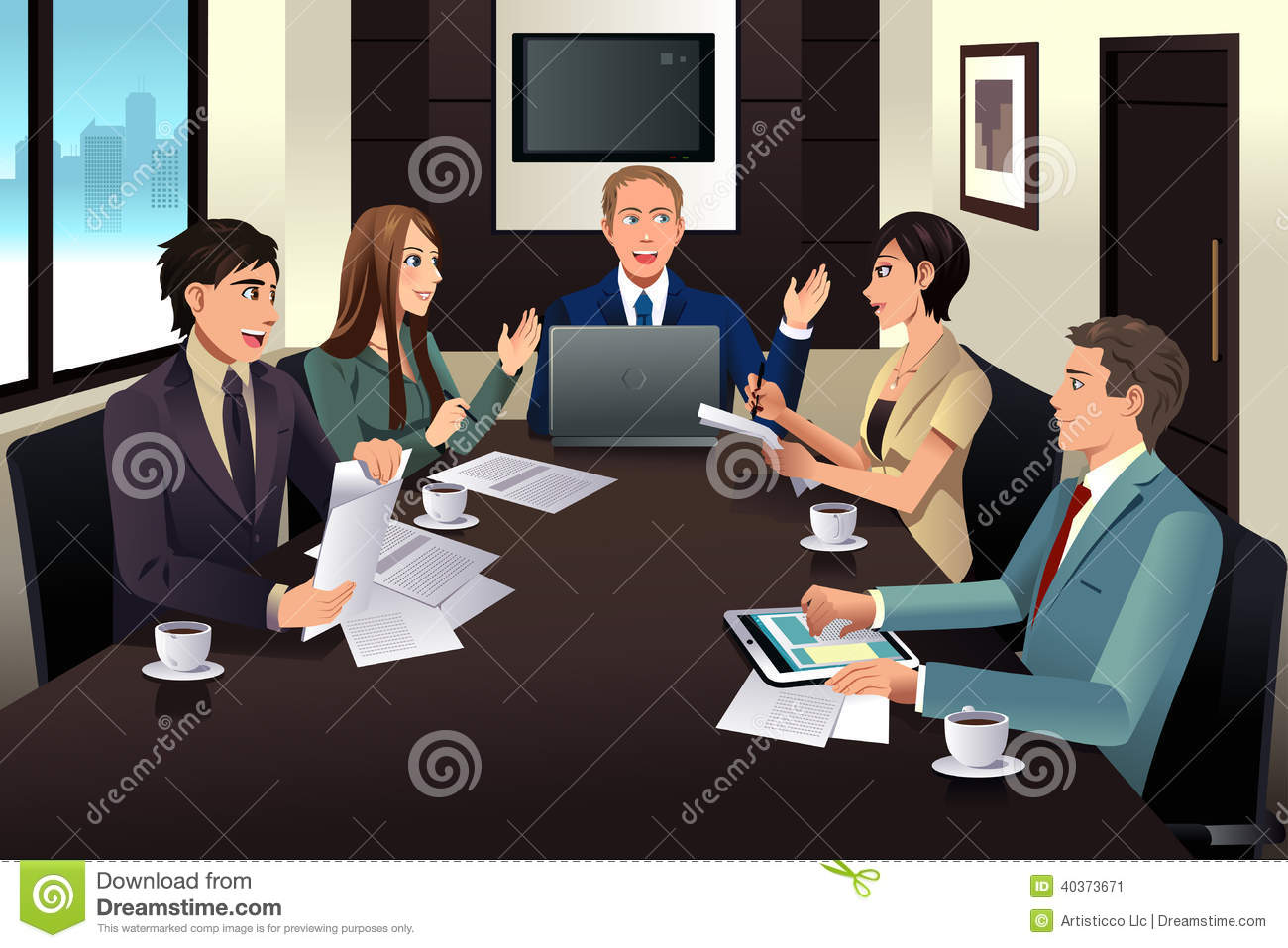 Free clipart office meeting 7 » Clipart Station.