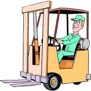 Forklift Operator Clipart.