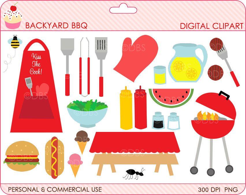 bbq clipart digital clip art.