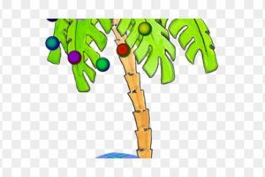 Free clipart palm tree with christmas lights » Clipart Portal.